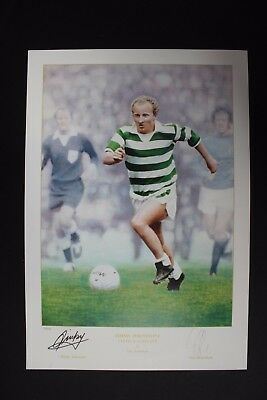 Jimmy Johnstone Celtic Scotland Hand Signed Football Poster