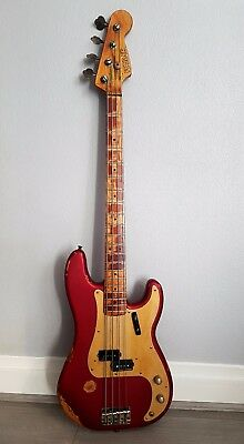 Fender Precision Bass 'Heavy Relic' - Candy Apple Red
