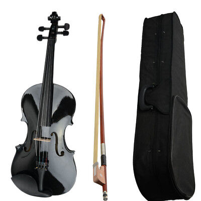 """New Basswood Student Black Acoustic Viola Size 15"""" Adults with Case Bow,Rosin UK"""