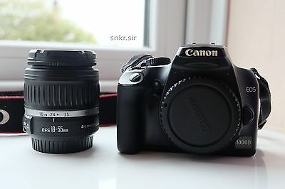 Canon EOS 1000D 10.0MP Black (Kit w/ EF-S 18-55 mm Lens) Boxed and Free Delivery