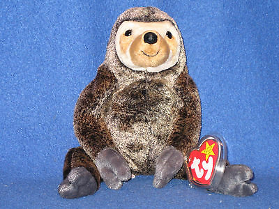 TY SLOWPOKE the SLOTH BEANIE BABY - MINT with NEAR MINT TAG - SEE PICS