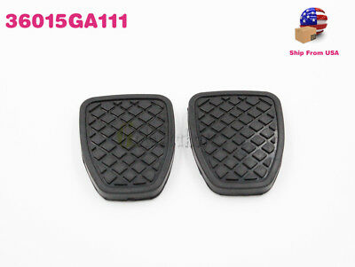 Genuine Oem New A Set Of Brake & Clutch Pedal Pads For Subaru Liberty 36015Ga111