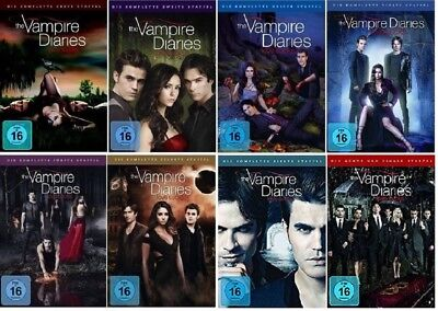 The Vampire Diaries Staffel 1-8 (1+2+3+4+5+6+7+8) DVD Set NEU komplette Serie