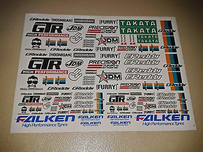 1/10 rc car stikers decals