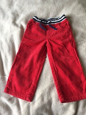 Red Cord Mini Boden Lined Trousers 18-24 Months