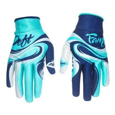 Deft Family Guantes Artisan 2 Swoop Teal-Navy Motocross Enduro Cross MTB