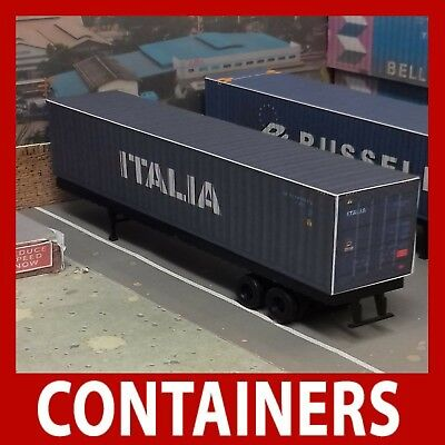 Hornby Shipping Container Card Kit Italia 45ft OO Gauge x 5 Also 2 x FREE