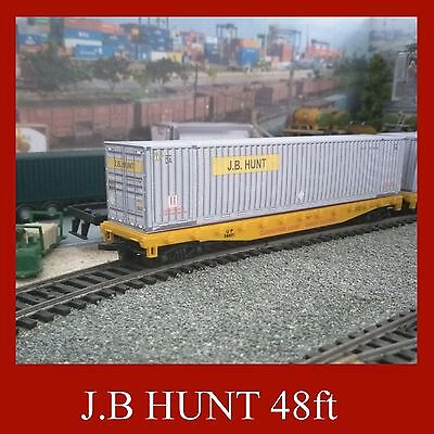 Hornby Shipping Container Card Kit J.B Hunt 48ft OO Gauge x 5 Also 2 x FREE