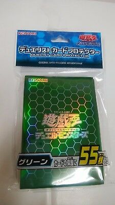 Yugioh Official Card Sleeve Protector : Green / 55pcs japan