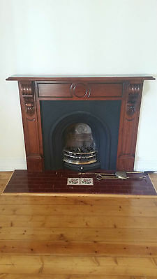 Gas Insert Fireplace With Eleget Wooden Mantle Already Dismantled