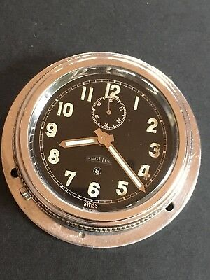 1930s Angelus 8 Days Dashboard Clock Military Look