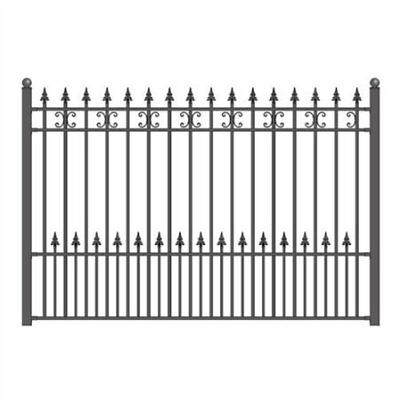 ALEKO Size 5.5X5Ft High Quality St.Petersburg Style DIY Iron Wrought Steel Fence
