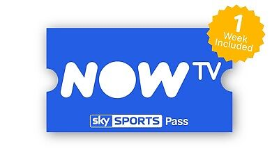 Now TV Sky Sports 1 Week Pass - 7 Days Bargain - NOW 10 Sports Channels