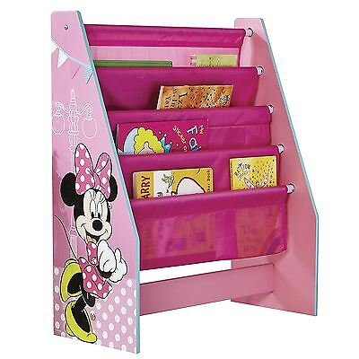 Minnie Mouse Sling Bookcase Childrens Bedroom Mdf Pink New Official