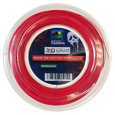 Weiss Cannon Red Ghost 18G 1.18mm (neon red) 660ft 200m Tennis String Reel