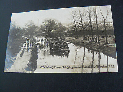 The New Army Bridging on the Canal at Aldershot Real Photo RP Postcard F Scovell