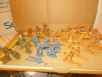Timpo,matchbox 1.32 Ww11 Figures -34 In Good Condition 8Th Army German Inf. Ect.