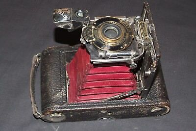 Vintage Eastman KODAK AUTOMATIC No3 Model E-2 folding camera in leather case