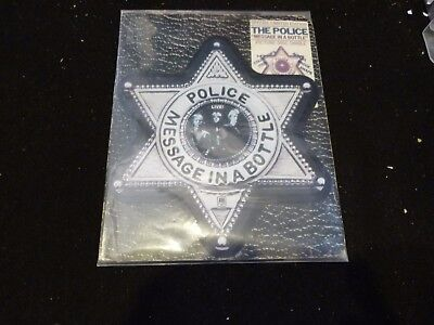 """The Police : Message In A Bottle """" Badge Shaped 7"""" Picture Disc In Wallet :ex"""