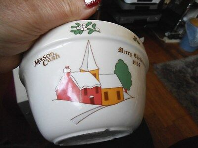 Mason Cash Christmas 1994 Pudding Bowl