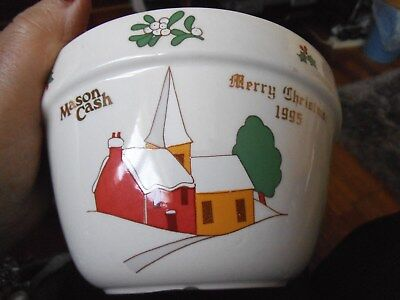Mason Cash Christmas 1995 Pudding Bowl