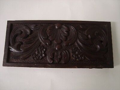 Small Carved Antique Wood Panel 'foliage'.