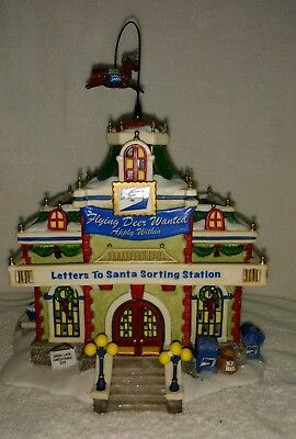 """DEPT 56  NORTH POLE """" LETTERS TO SANTA SORTING STATION """" w/box"""
