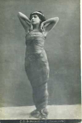 Russian postcard photograph of unknown dancer.