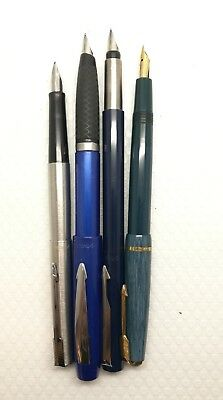 Parker Job lot collection of 4 fountain penmade all made in UK all fully working