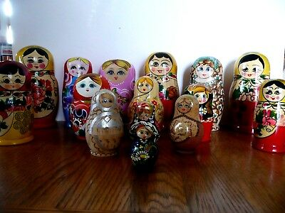 Russian Dolls Job Lot 15 sets all complete