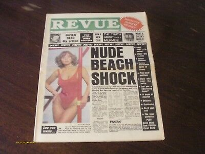 Pippa Forest, Diana Dors, Oliver Reed, Dennis Waterman - Revue Newspaper - 1979