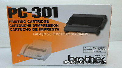 NEW GENUINE - Brother PC-301 Printing Cartridge for Fax-750 870MC 885MC