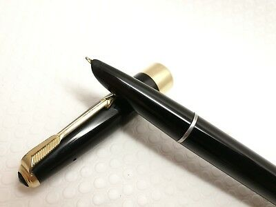 Parker 17 super duofold black  gold nib gold plated trim made in England