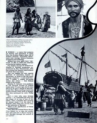 Pp72/12P46 The Golden Voyage Of Sinbad The Sailor Article & Picture(S)