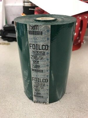 Foilco Gloss Green  Foil Hot Foil Stamping Foil Gold Blocking 150mm 305 Metres