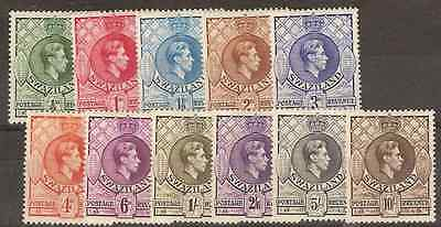 Swaziland 1938 Lightly Mounted MINT Set (all perfs 13 1/2x 13) SG 28-38