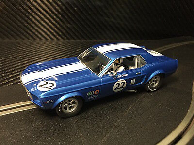 Pioneer Slot Car New Unboxed 1968 Trans-Am Mustang #22 'bill Maier' Paint Defect