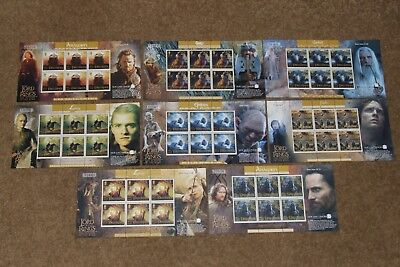 ISLE OF MAN unused stamps sheets LORD OF THE RINGS