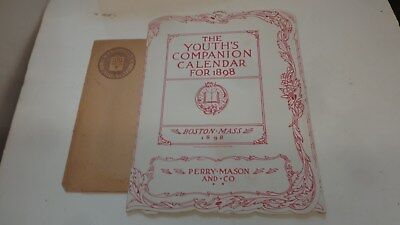 Beautiful 1898 Youth's Companion Calendar for 1898 w/ Color Lithographs