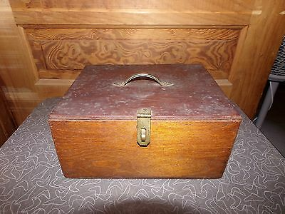 Antique Primitive Handmade Wooden Sewing Box