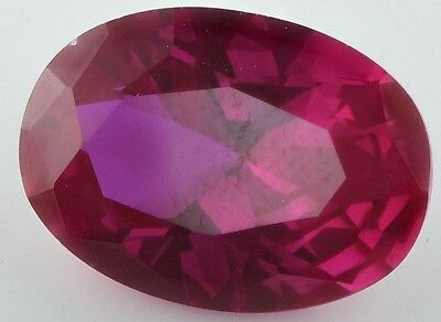 LARGE 14x10mm OVAL-FACET TOP-RED RUBY GEMSTONE £1 NR!