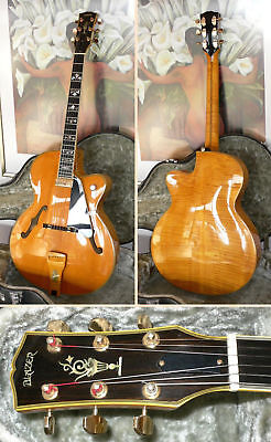 Handmade L5 type electric archtop jazz guitar by Rudi Blazer from 1989