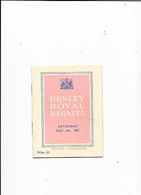 1953 Henley Royal Regatta Programme July 4th