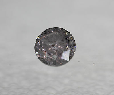 Certified 0.99 Carat Fancy Greyish Silver Round Brilliant Natural Diamond 5.92mm