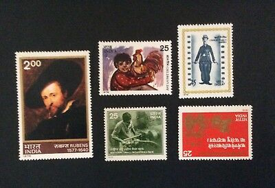 India 1978. 5 stamps   MNH