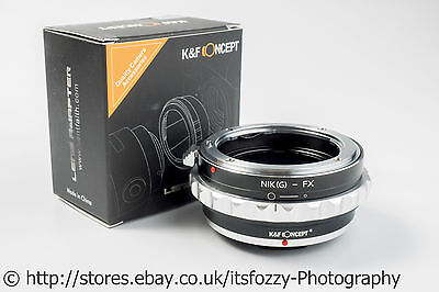 K&F Concept Nikon(G) to FX Adapter Nikon F(G) to Fujifilm FX Adapter