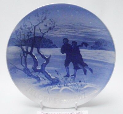 Bing & Grondahl Christmas Plate Figure Skating Couple 1927