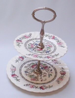 Myott Indian Tree 2-Tier Cake Plate - Made in England