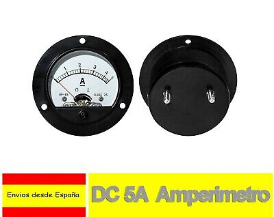 DC 5A Amperimetro Analógico Panel Medidor Amperaje 0 a 5A Shunt built-in H0107