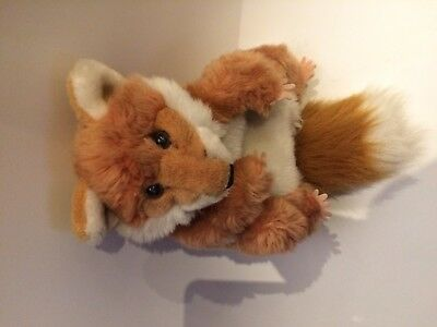 Puppet Co Company Hand Glove Soft Toy Cuddly Red Brown Fox Cream White